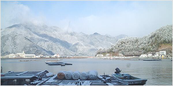 真冬の白石湖